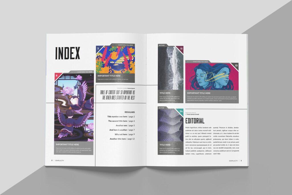 艺术品绘画作品展览画册杂志模板Create Magazine Template插图(1)