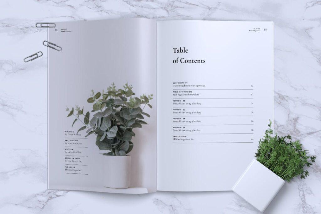 高端企业品牌宣传画册模板ELNINO Minimal Magazine插图(1)