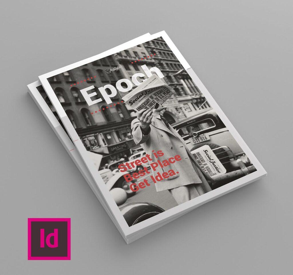 大纪元历史记录风格杂志画册模板素材Epoch Magazine Template插图(1)