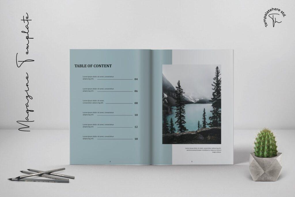 现代简约中性的杂志设计风格Essential Magazine Template插图(1)