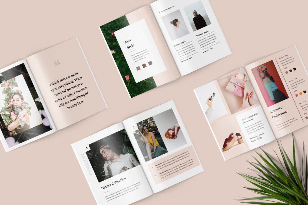 女性时尚服装高端品牌品牌画册模板Fashion Lookbook Catalogue插图(1)
