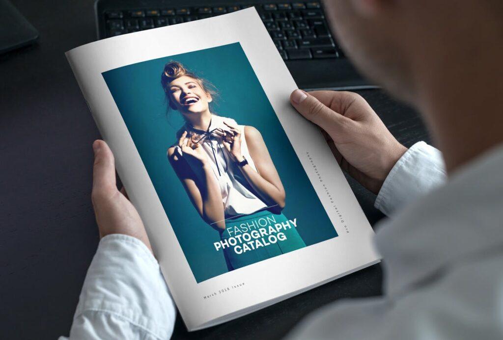 时尚摄影简洁板式画册杂志模板素材下载Fashion Photography Catalog Brochure插图(1)