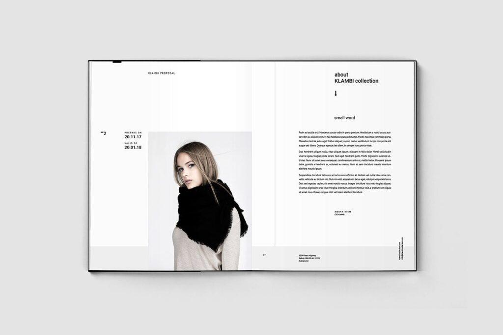 多用途商务手册企业画册模版素材Fashion Proposal插图(1)
