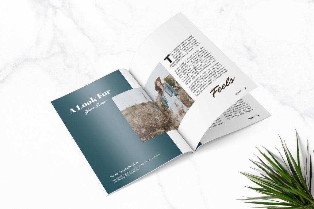 多用途企业产品商务手册模板素材Feels Fashion Magazine Template插图(1)