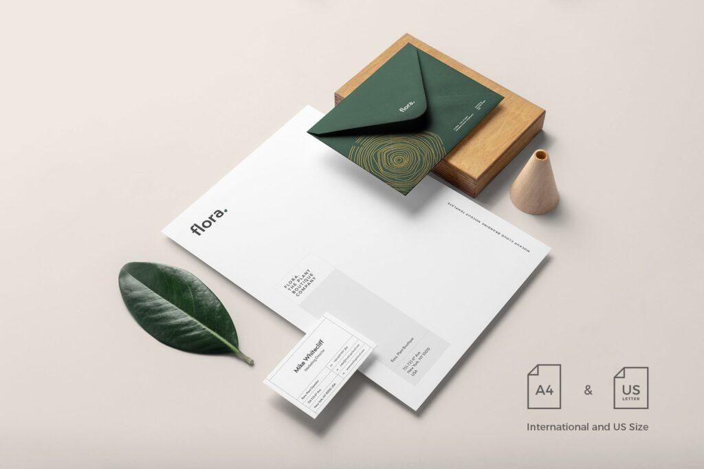 优雅的品牌VI样机模型样机下载Flora Branding Mockup Vol1插图(1)