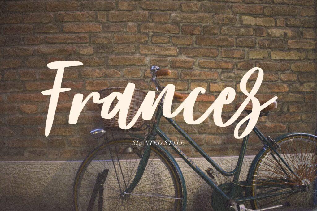 文艺浪漫主题/婚礼邀请函无衬线英文字体Frances Modern Font插图(1)