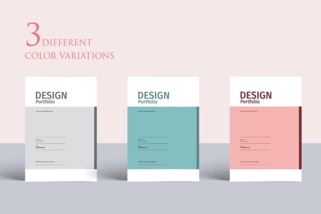 精致文艺室内设计画册模版素材Graphic Design Portfolio Template插图(1)