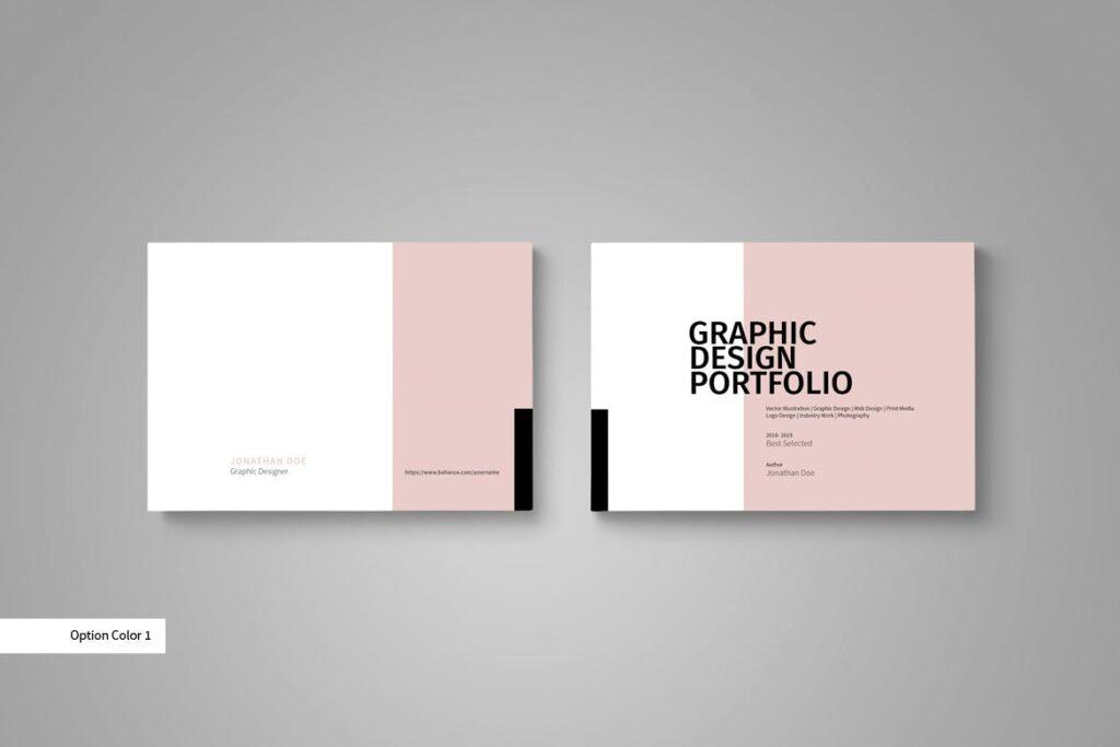 设计师工作产品/室内设计/家居设计展示画册模版Graphic Design Portfolio Template插图(1)