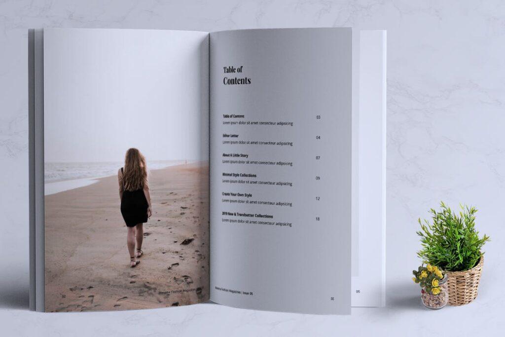 简约风格摄影工作室画册杂志模板HAVANA Minimal Magazine Fashion插图(1)