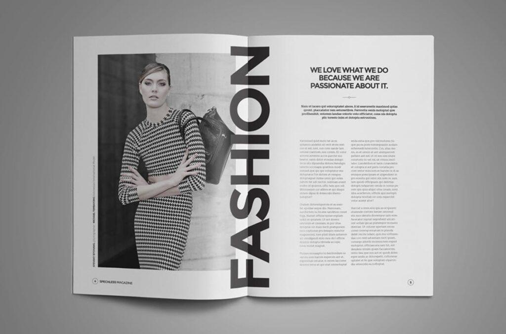 黑白风格历史介绍杂志模版素材InDesign Magazine Template WBM4TW插图(1)