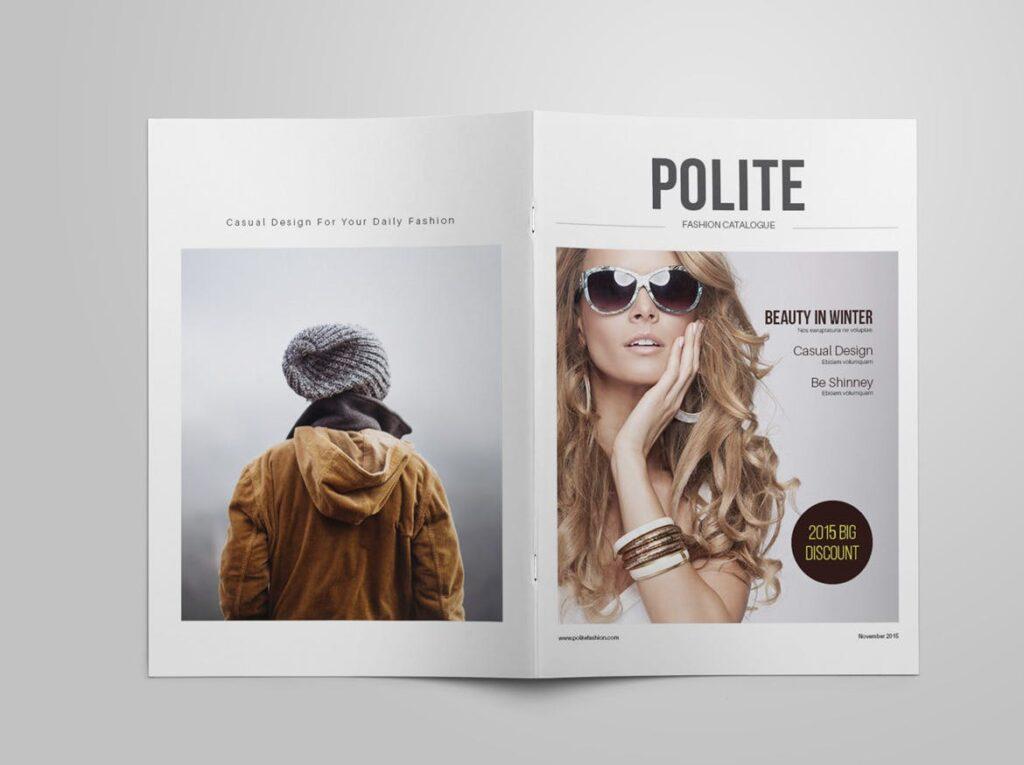 女性时尚用品产品目录画册模板InDesign Product Catalogue Template插图(1)