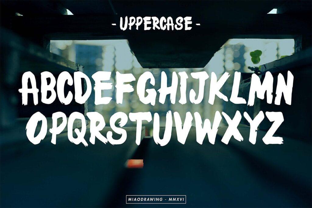 海报标题字/手工笔刷和马克笔手写英文无衬线字体下载LaSpacino Typeface插图(1)