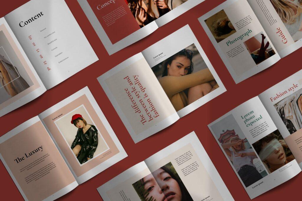 时尚潮流行业/室内设计工作室介绍画册杂志模版Luxury Brochure Catalogue minimal Corporate Agency插图(1)