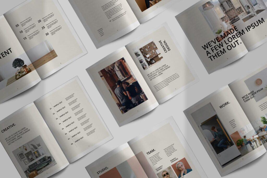 室内设计案例介绍/企业创意产品画册模板Luxville Fashion Magazine插图(1)
