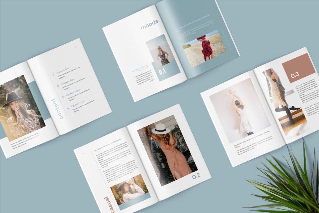 精致文艺时尚主题杂志主题画册模板Lyla Fashion Magazine Template插图(1)