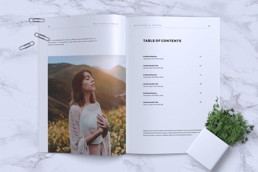 优雅时尚多用途杂志模板MISQUEEN Minimal Magazine Styles插图(1)