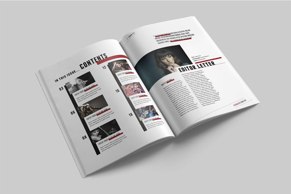 精英访谈采访主题杂志模板素材Magazine Template 8NSXE49插图(1)