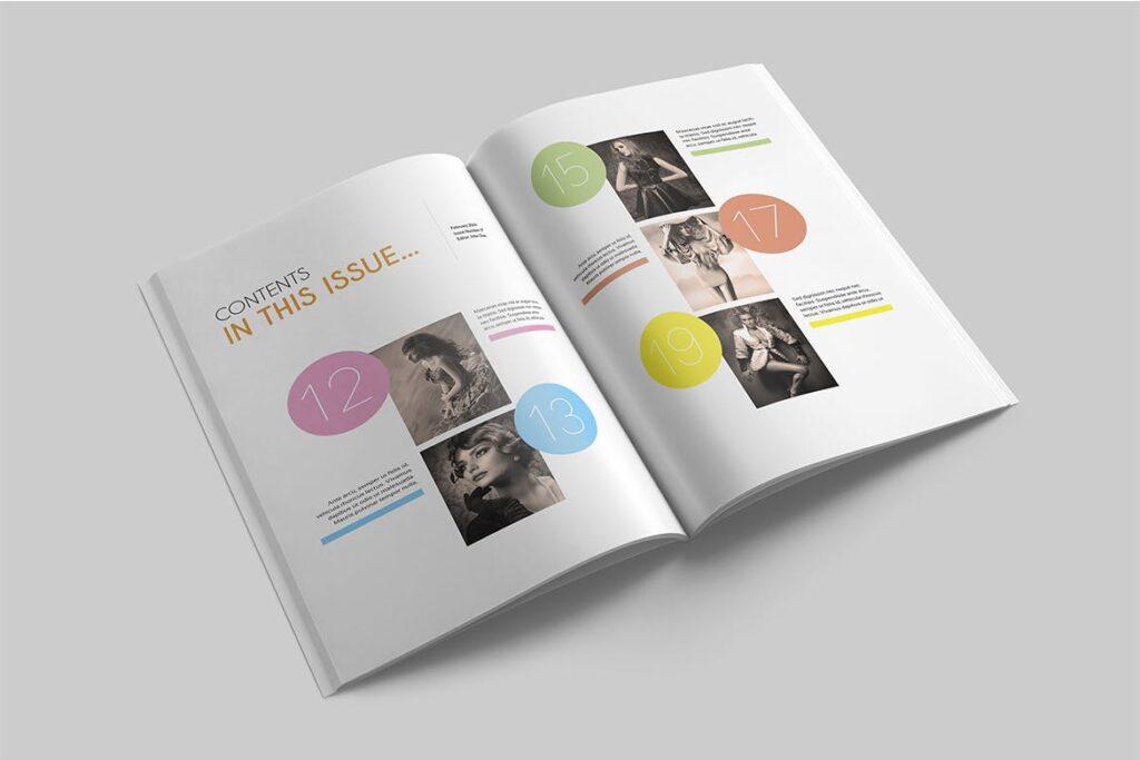 企业多用途杂志画册模板素材下载Magazine Template 4DG6APQ插图(1)