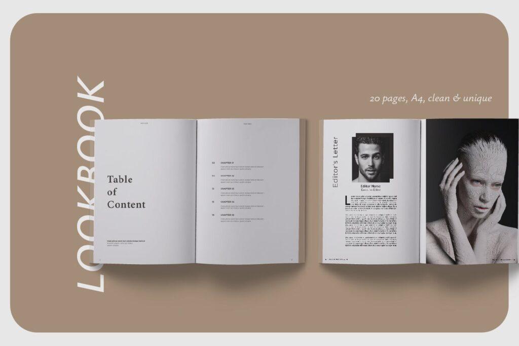 现代简约中性的杂志设计模板Muddy Photograph Magazine Template插图(1)