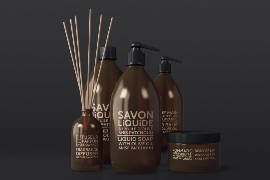 棕色天然化妆品包装瓶实物模型样机Natural Cosmetic Packaging Mock Ups Vol3插图