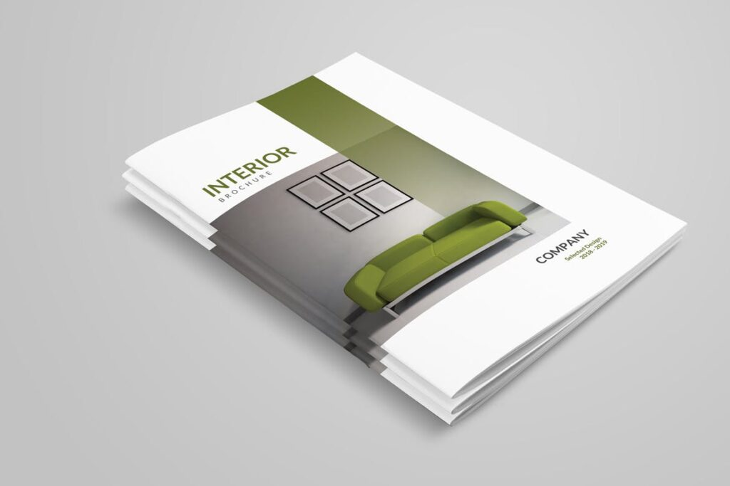 优雅简洁室内设计手册/目录/杂志画册模板PSD Interior Brochures Catalogs Magazine插图(1)