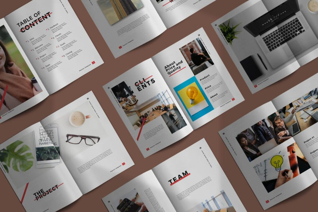 商务汇演/企业路演规划书模板素材Passion Brochure Minimal Business Company插图(1)