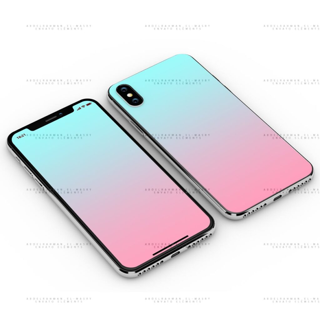 iPhoneX 手机模型样机/UI作品包装模型样机iPhoneX PSD Mock-Up插图(1)