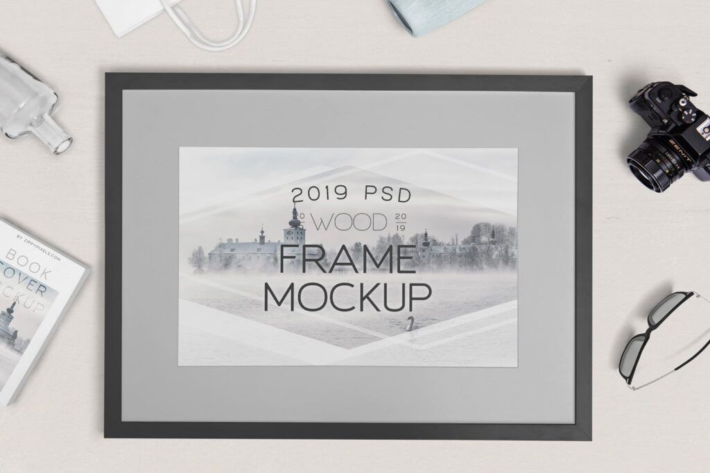 华丽相框模型样机素材下载Photography Frame Mockups插图(1)