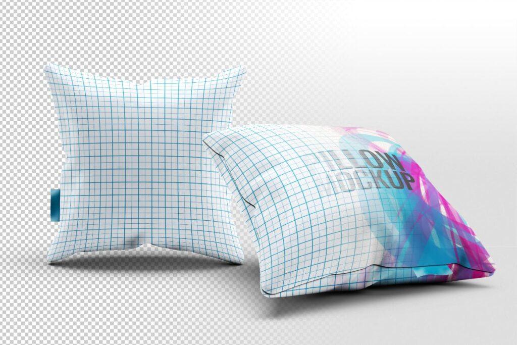 多角度抱枕样机3D模型效果图展示Pillow Mock Up Jb57q3插图(1)