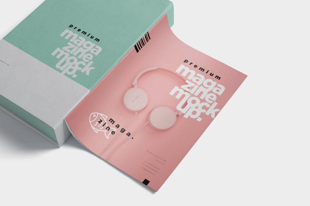 精致音乐主题类型画册样机Premium Magazine Mockups插图(1)