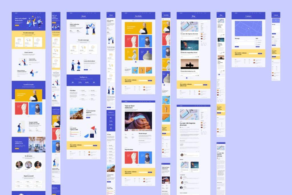 互联网行业响应式网站UI模板素材Responsive Template插图(2)