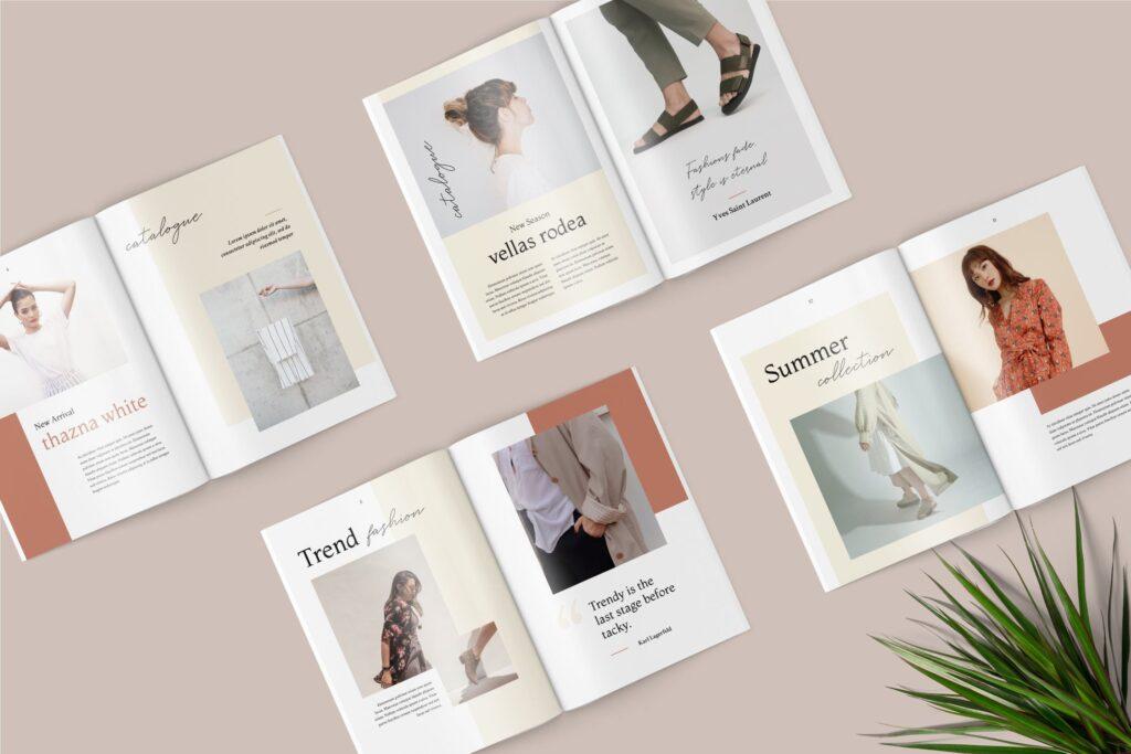 素雅时尚服装品牌画册杂志模版素材Shirea Fashion Lookbook Magazine插图(1)