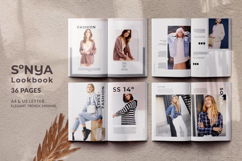 潮流时尚生活方式周刊杂志模版Sonya Lookbook Magazine插图(1)