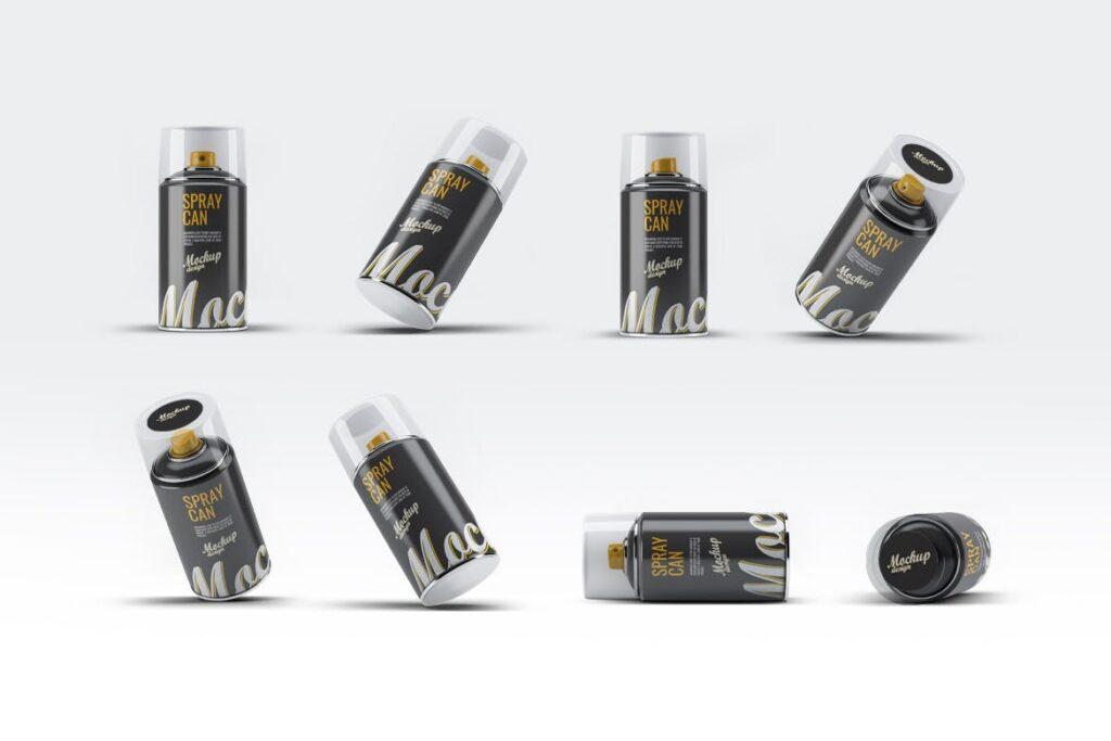 高级喷雾罐喷漆模型样机素材下载Spray Can MockUp v2插图(1)