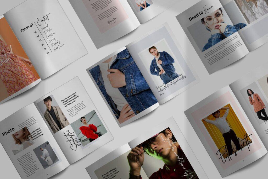 工作室室内设计行业产品目录展示画册Style Fashion Brochure Minimal Company Agency插图(1)