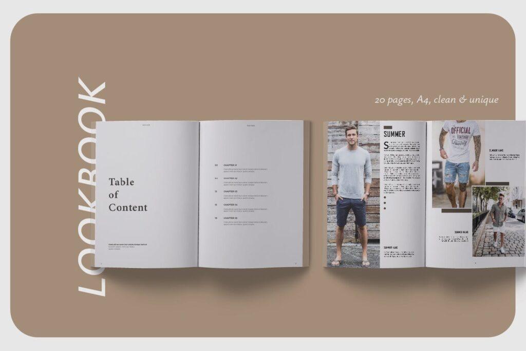 潮流男士服装品牌杂志模版The Mens Lookbook Magazine插图(1)