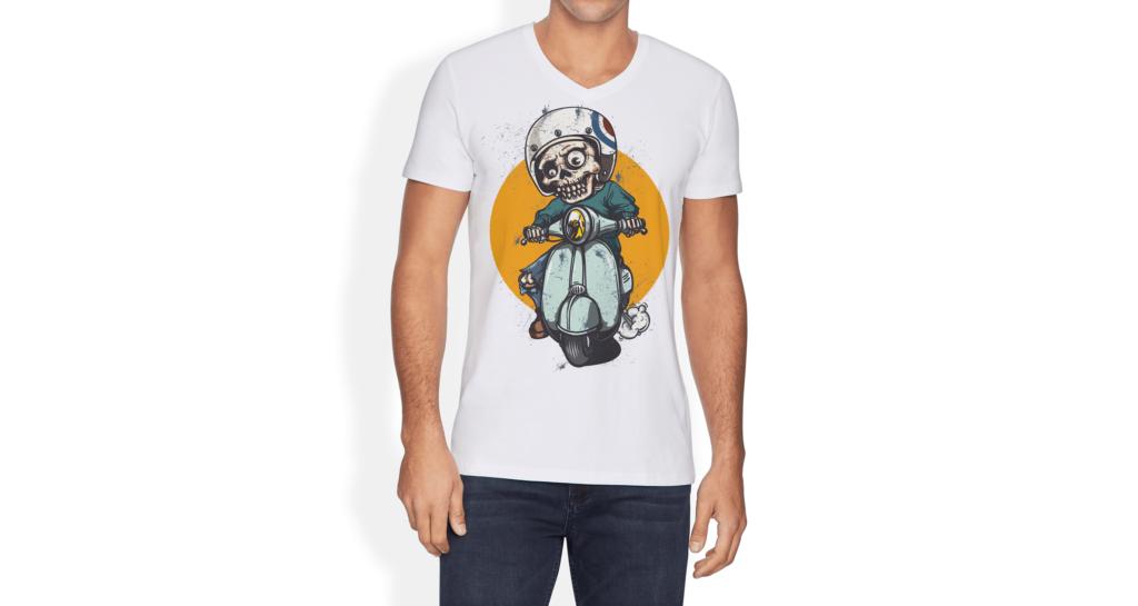 简约艺术类文化衫模型样机效果图V Neck T shirt Mockup Vol 10插图(2)
