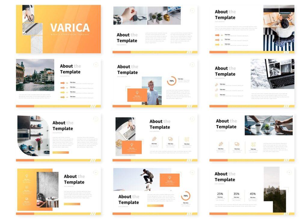 互联网公司市场销售数据汇演ppt幻灯片模板Varica Google Slide Template插图(1)