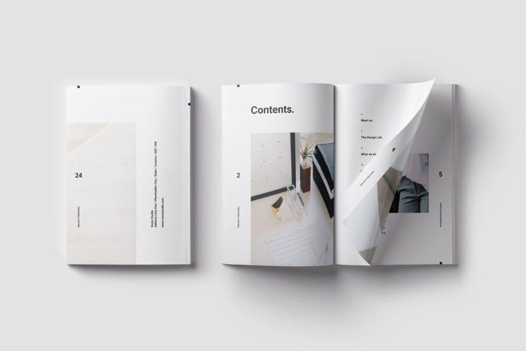 现代生活极致简洁家居设计/室内设计画册模版Voom Proposal插图(1)