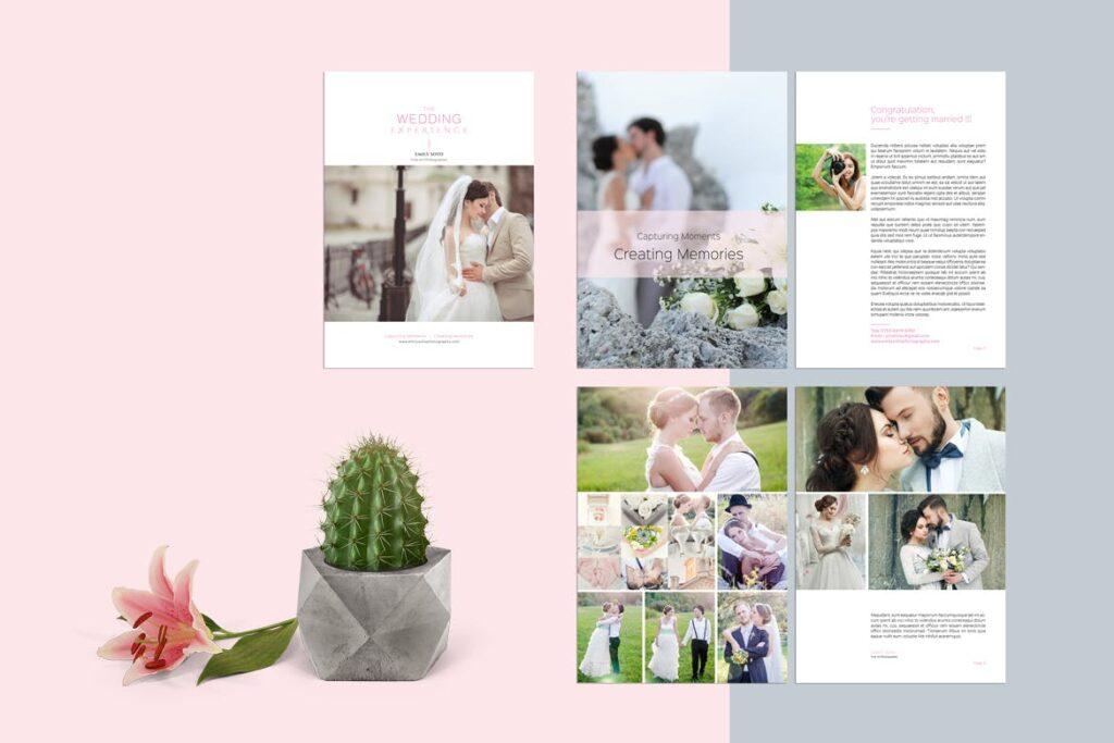 婚纱摄影价格指南/婚纱摄影工作室杂志画册模板Wedding Photography Price Guide插图(1)