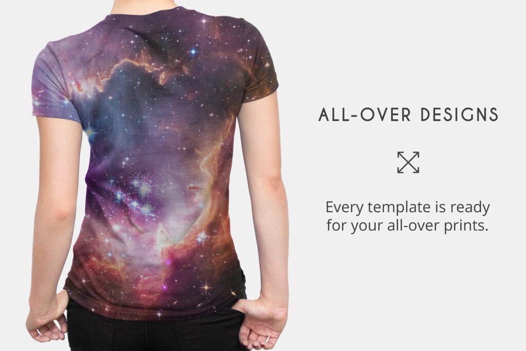企业文化衫/高质量的t恤模板样机下载Womens T Shirt Mock ups插图(1)