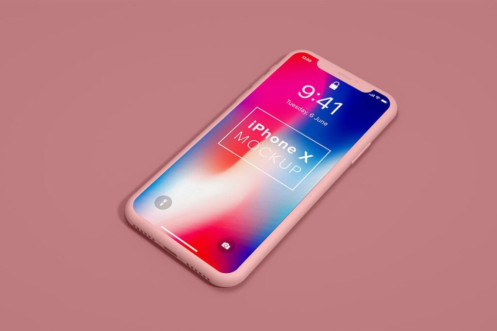 UI作品iphonex设备样机下载iPhoneX Mockup Clay 3D GRMWWK插图(1)