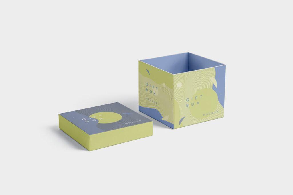 5个礼品包装盒/生日礼物模型样机模型效果图5 Attractive Gift Box Mockups插图(2)