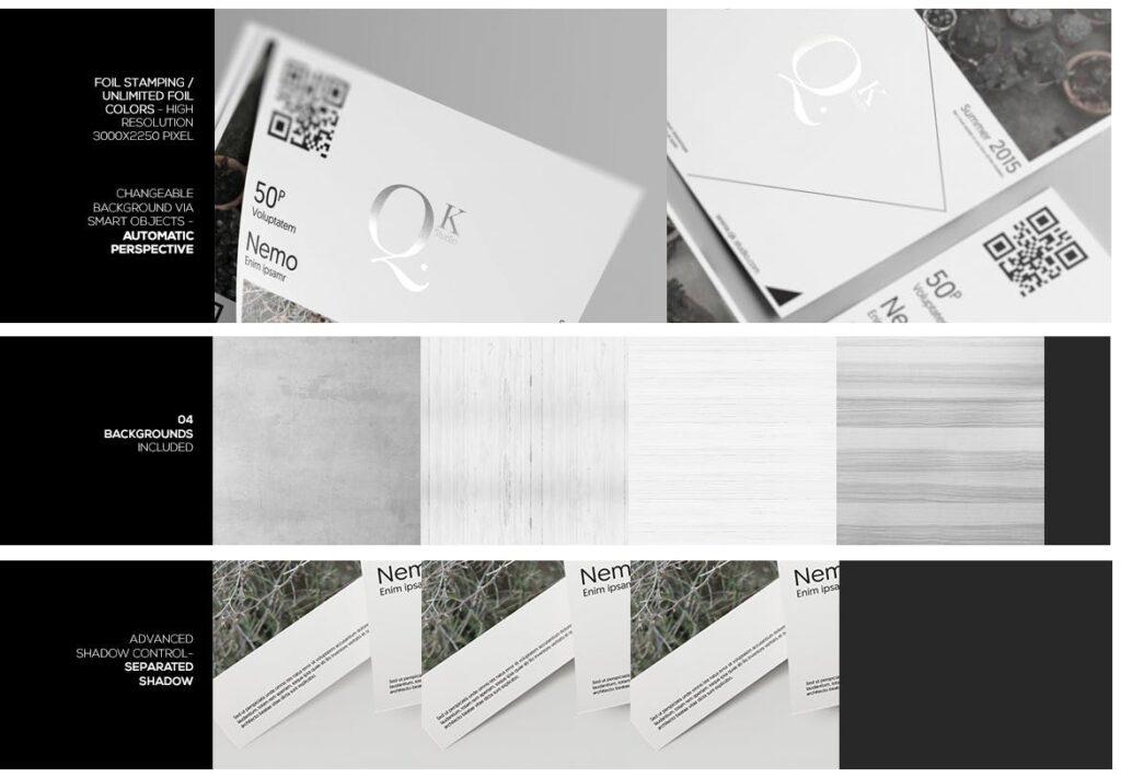 企业传单宣传册模型素材样机下载A4 A5 Poster Flyer Mockups V4插图(1)