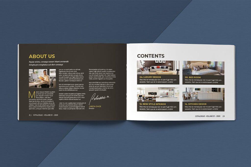 横版家居室内设计画册杂志模版A5 Interior Catalogue ASFEWQ插图(2)