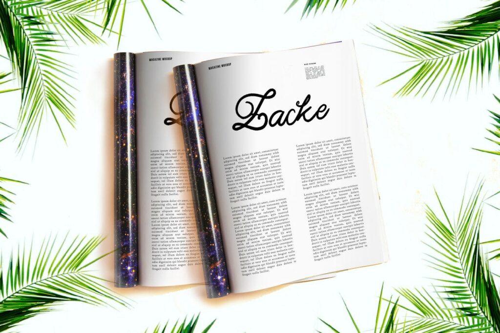 咖啡包装标题字体/文艺邀请函字体Adelia Elegant Script Typeface插图(2)