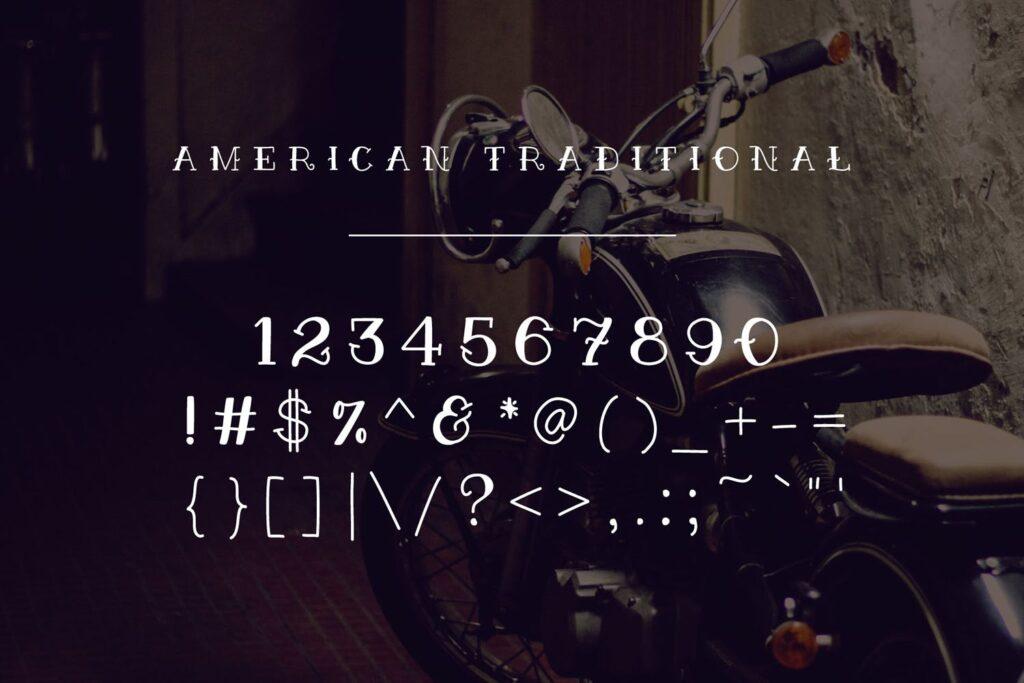 纹身装饰字体/优雅衬线英文字体下载American Traditional插图(2)