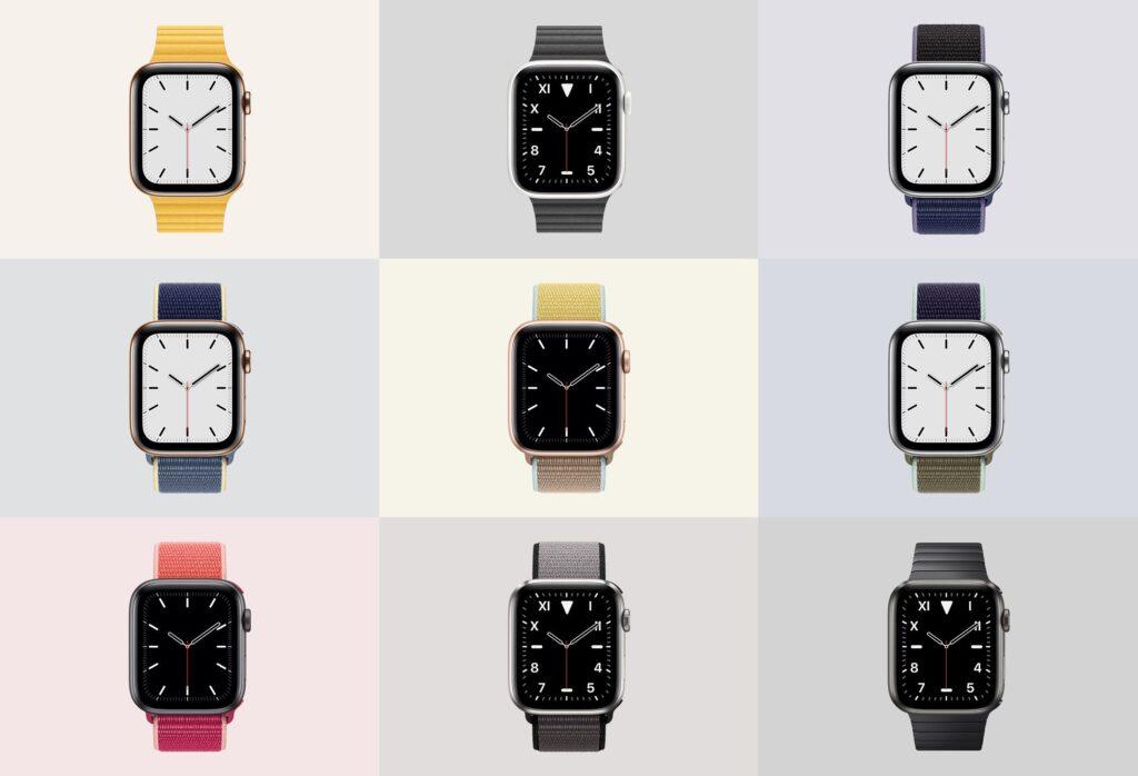 苹果手表系列5展示效果图样机模型下载Apple Watch Mockup Series 5插图(2)