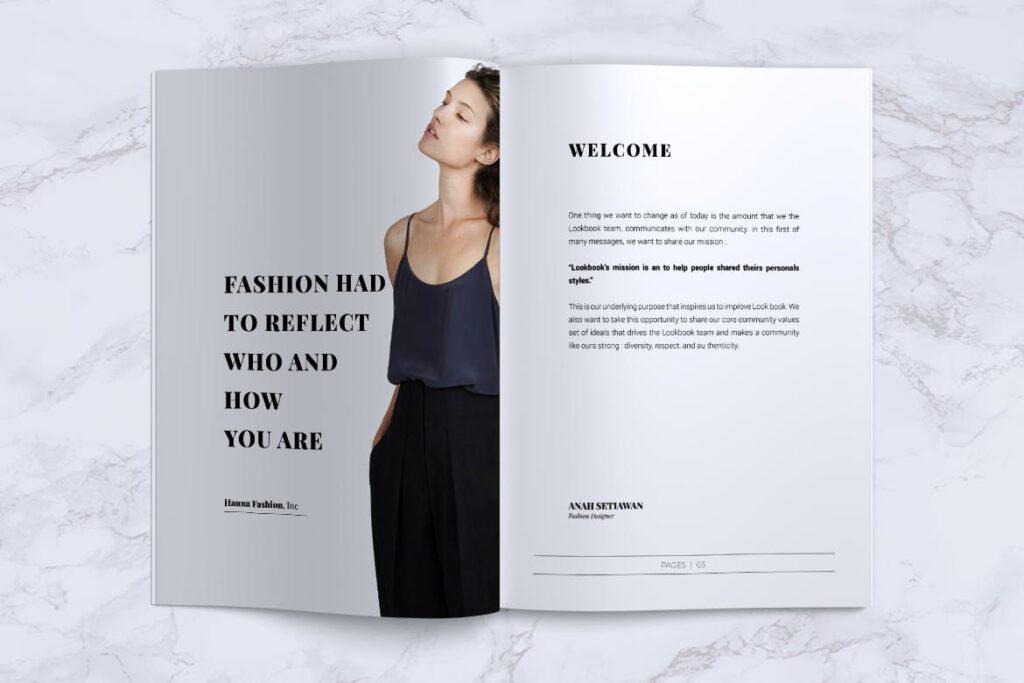 女性时尚服装品牌杂志模板BLANKS Minimal Fashion Magazine插图(2)