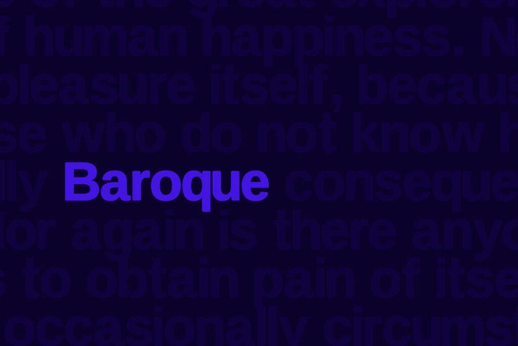 巴洛克风格的字体/品牌包装宣传字体下载Baroque sans Typeface Webfonts插图(2)